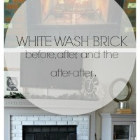 New Year New Room Challenge-Re-whitewashing the Brick Fireplace