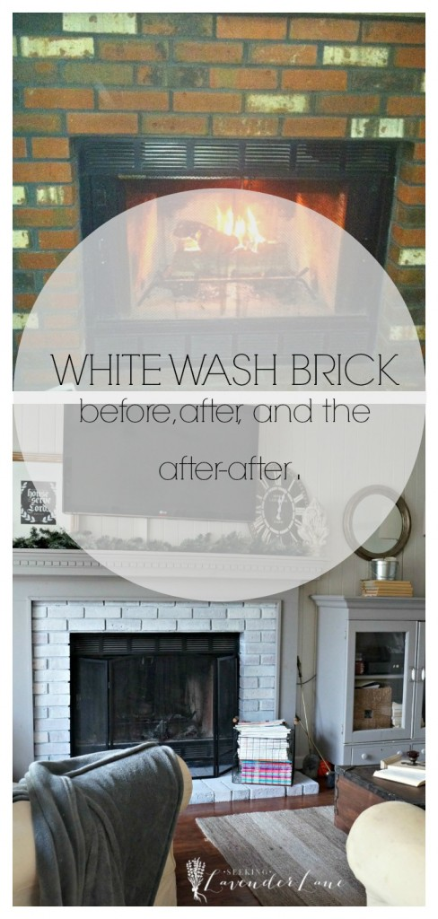 White wash brick, the before, after, and the after-after