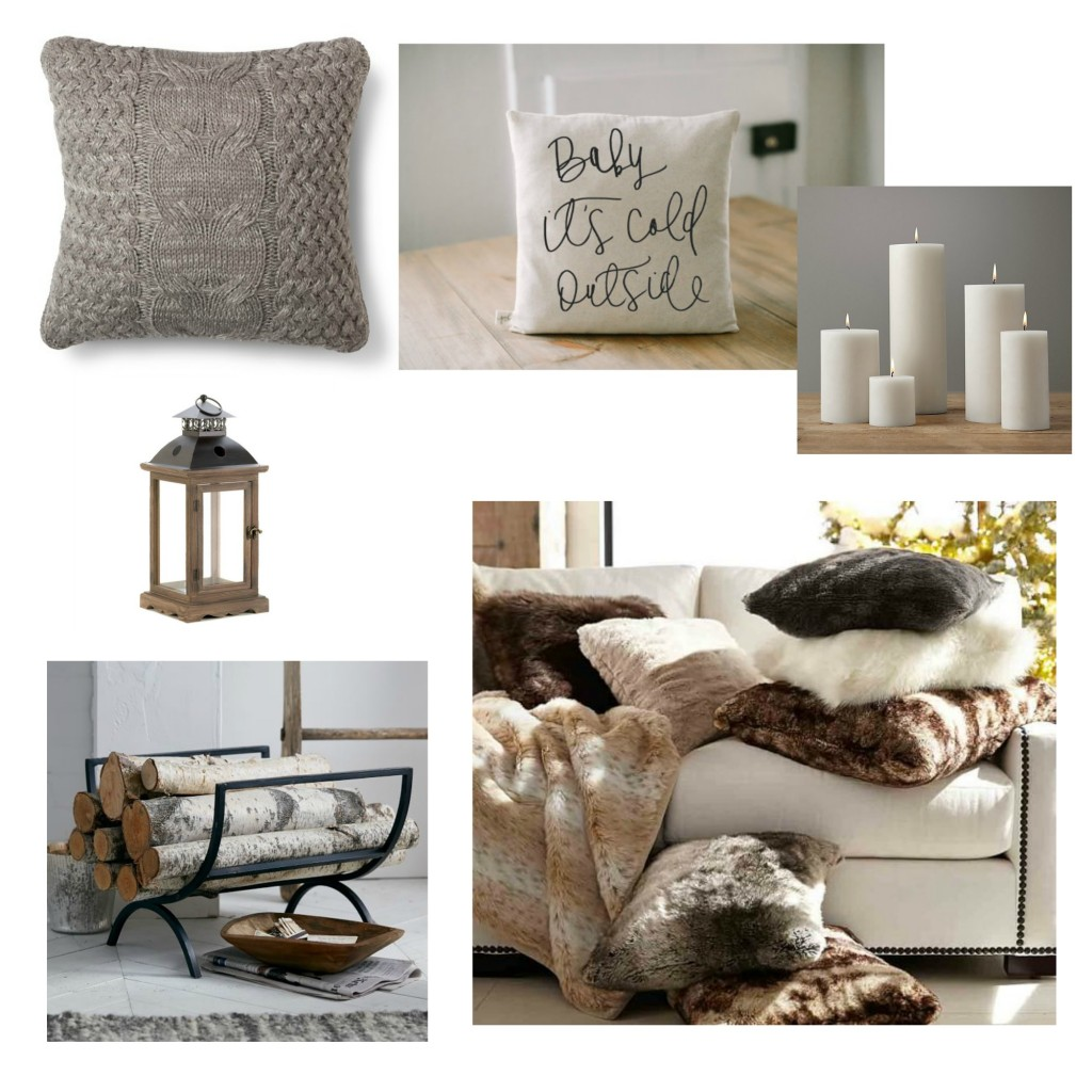 Winter Decor Ideas Collage