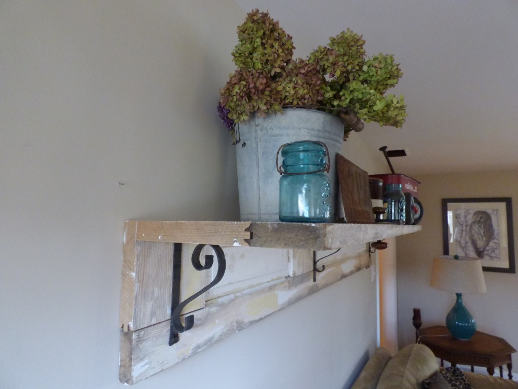old farmhouse door shelving