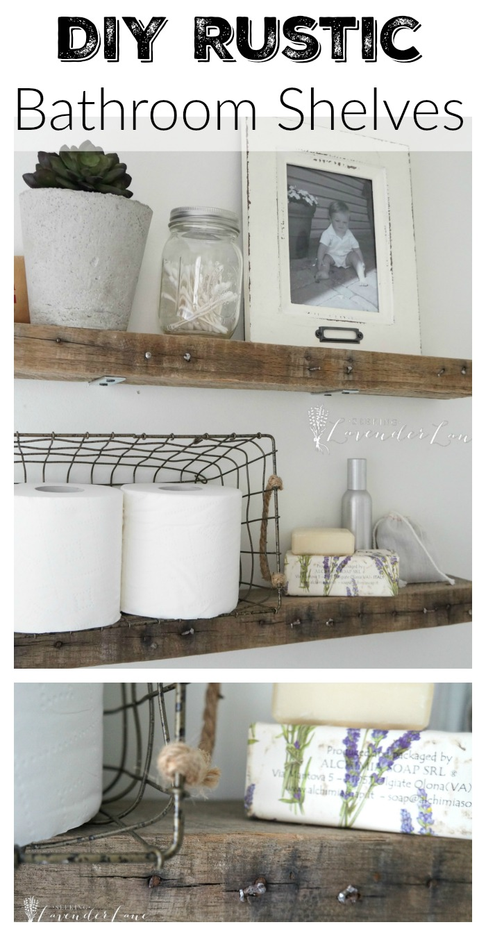 Well-liked DIY Rustic Bathroom Shelves - Seeking Lavendar Lane QN71