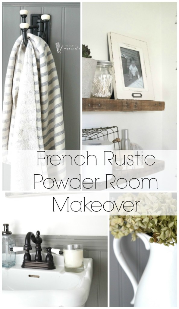 French Rustic Powder Room