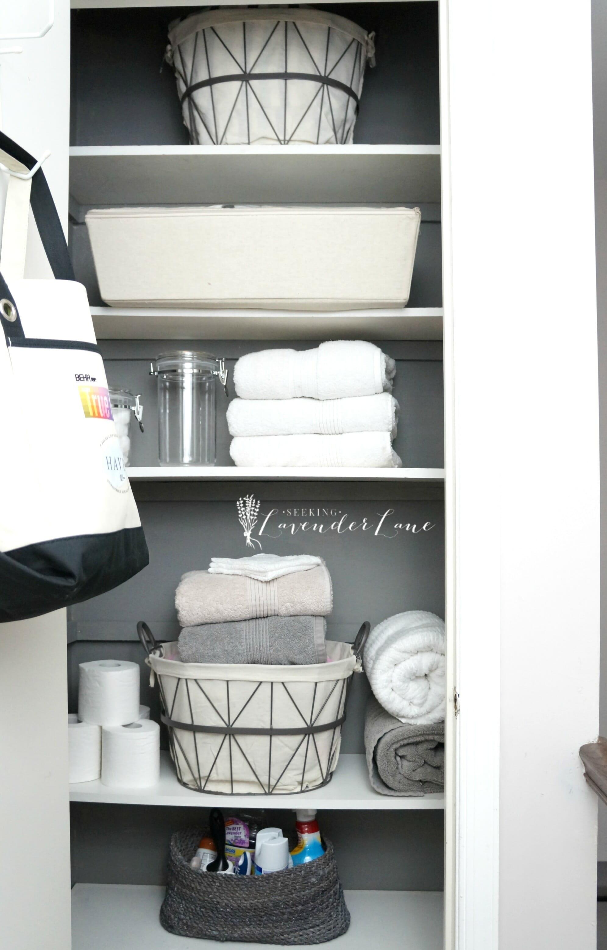 Pretty Organized Linen Closet Seeking Lavendar Lane