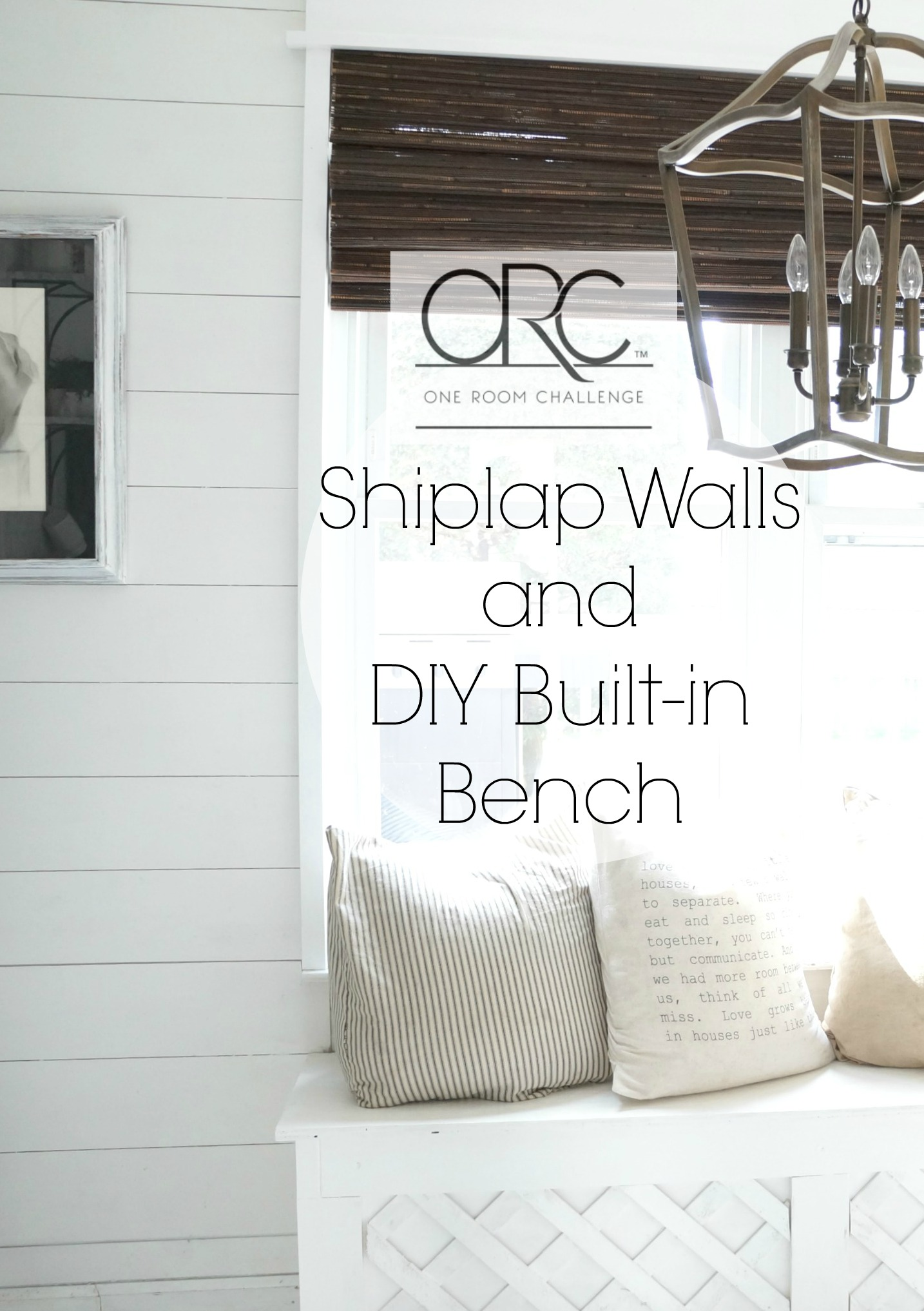 Adding Shiplap And A Built In Bench To Kitchen Nook
