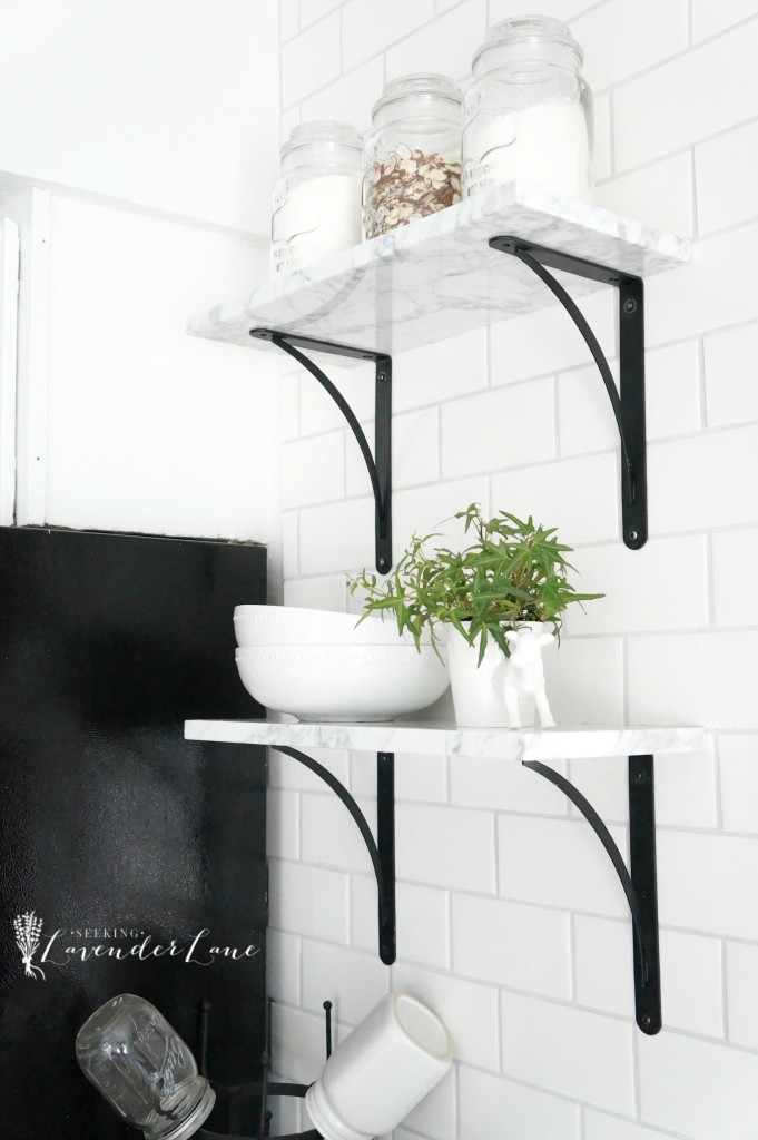 marble floating shelves 2