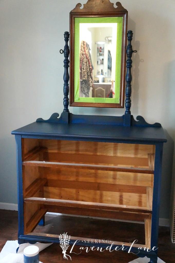 Blue Dresser First Coat