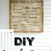 DIY Wooden Sign Curb Appeal Blog Hop Week 2