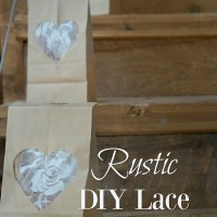 DIY Lace Heart Bags