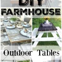 10 DIY Outdoor Farmhouse Tables