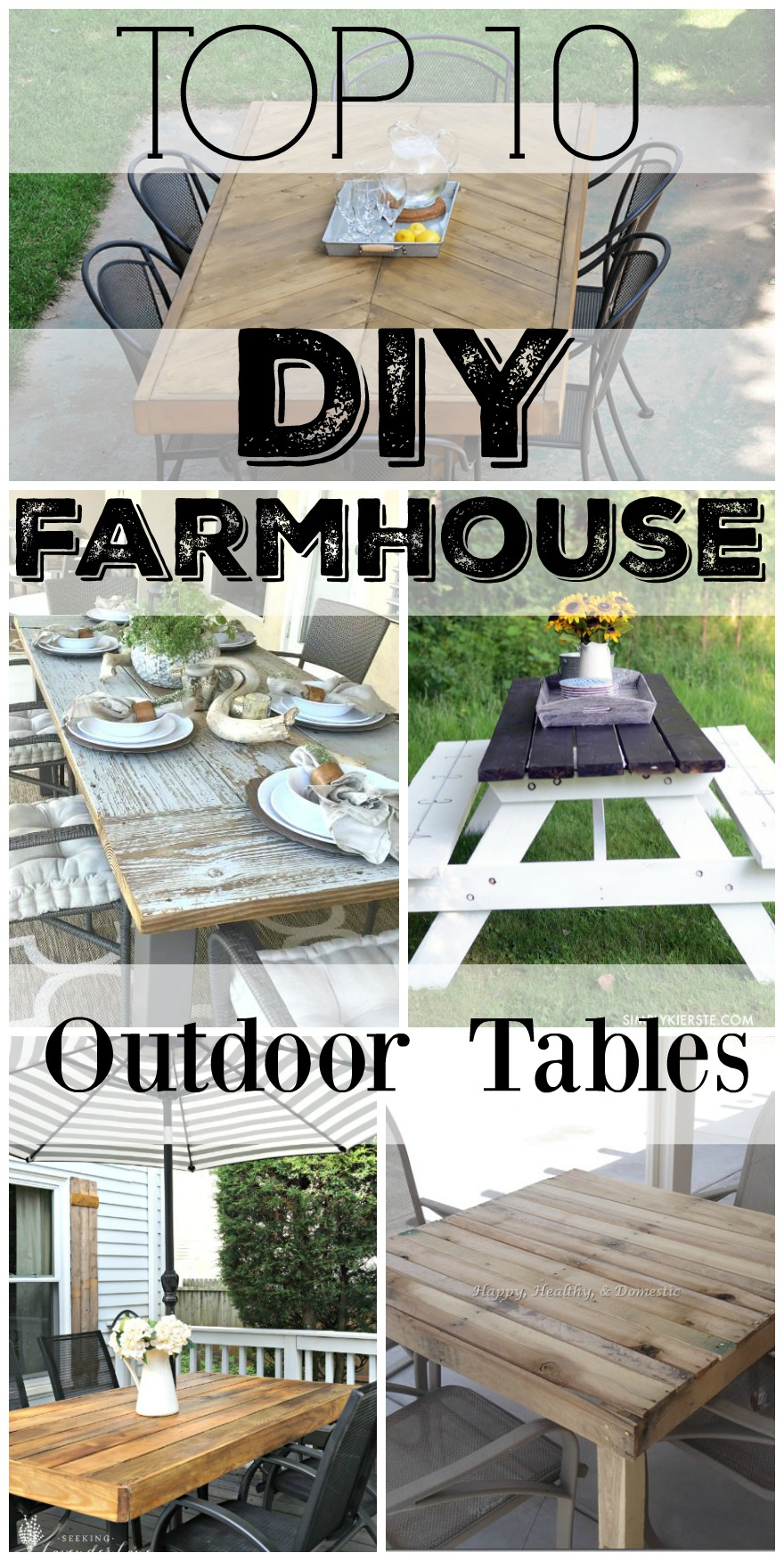 Diy Outdoor Farmhouse Table Throughout Top 10 Diy Farmhouse Outdoor Tables Diy Outdoor Farmhouse Tables Seeking Lavendar Lane