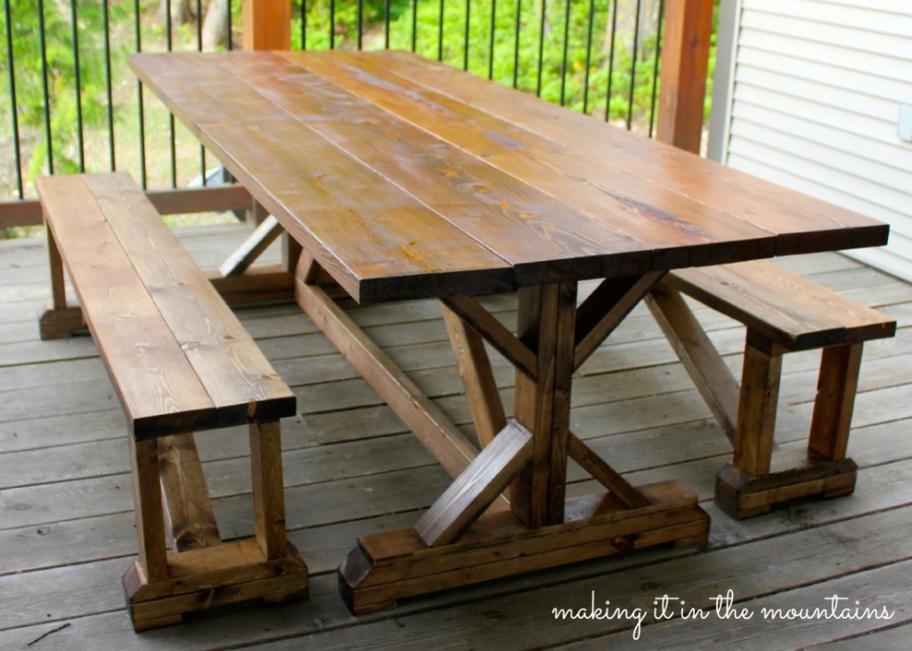 10 DIY Outdoor Farmhouse Tables - Seeking Lavendar Lane
