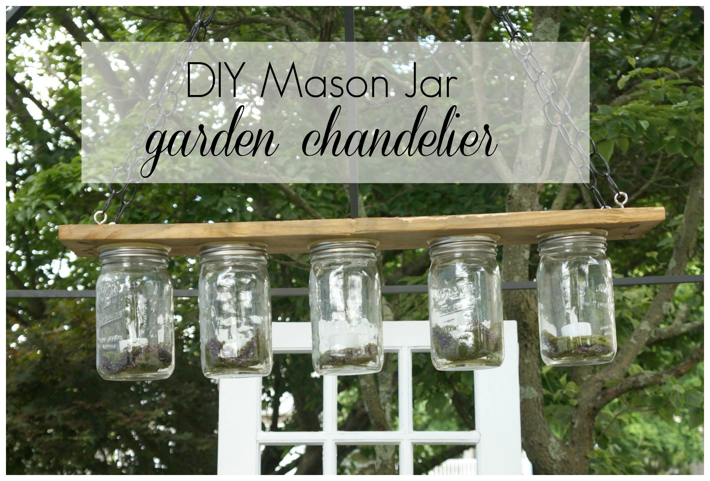 DIY Mason Jar Garden Chandelier label