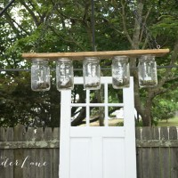 DIY Mason Jar Outdoor Garden Chandelier