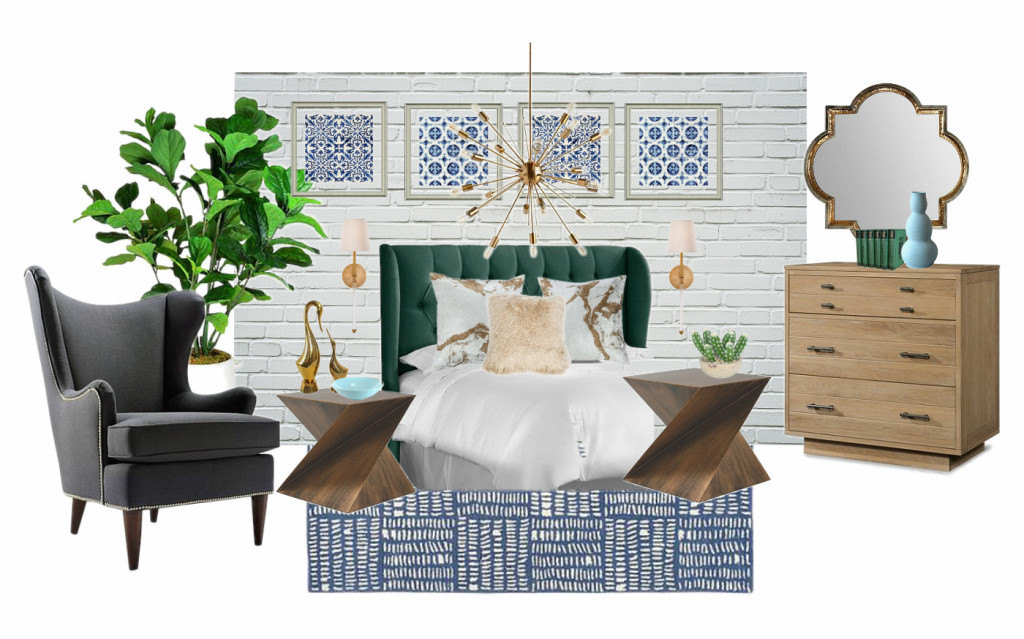 Boho Mod Bedroom Design Board Seeking Lavendar Lane