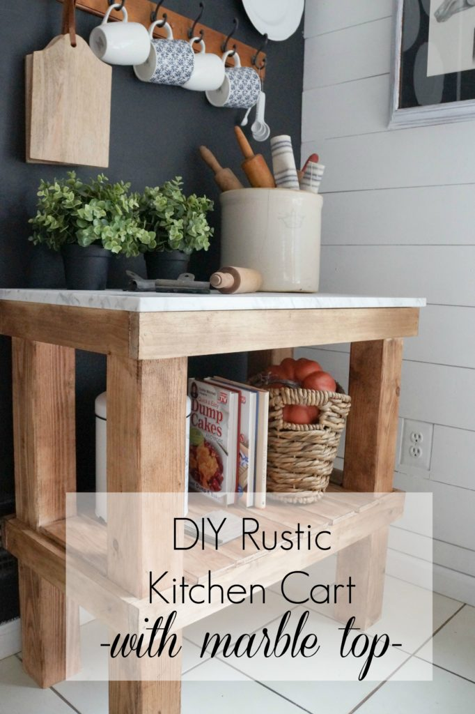 Kitchen-Cart-DIY-Rustic-Kitchen-Cart-with-Marble-Top