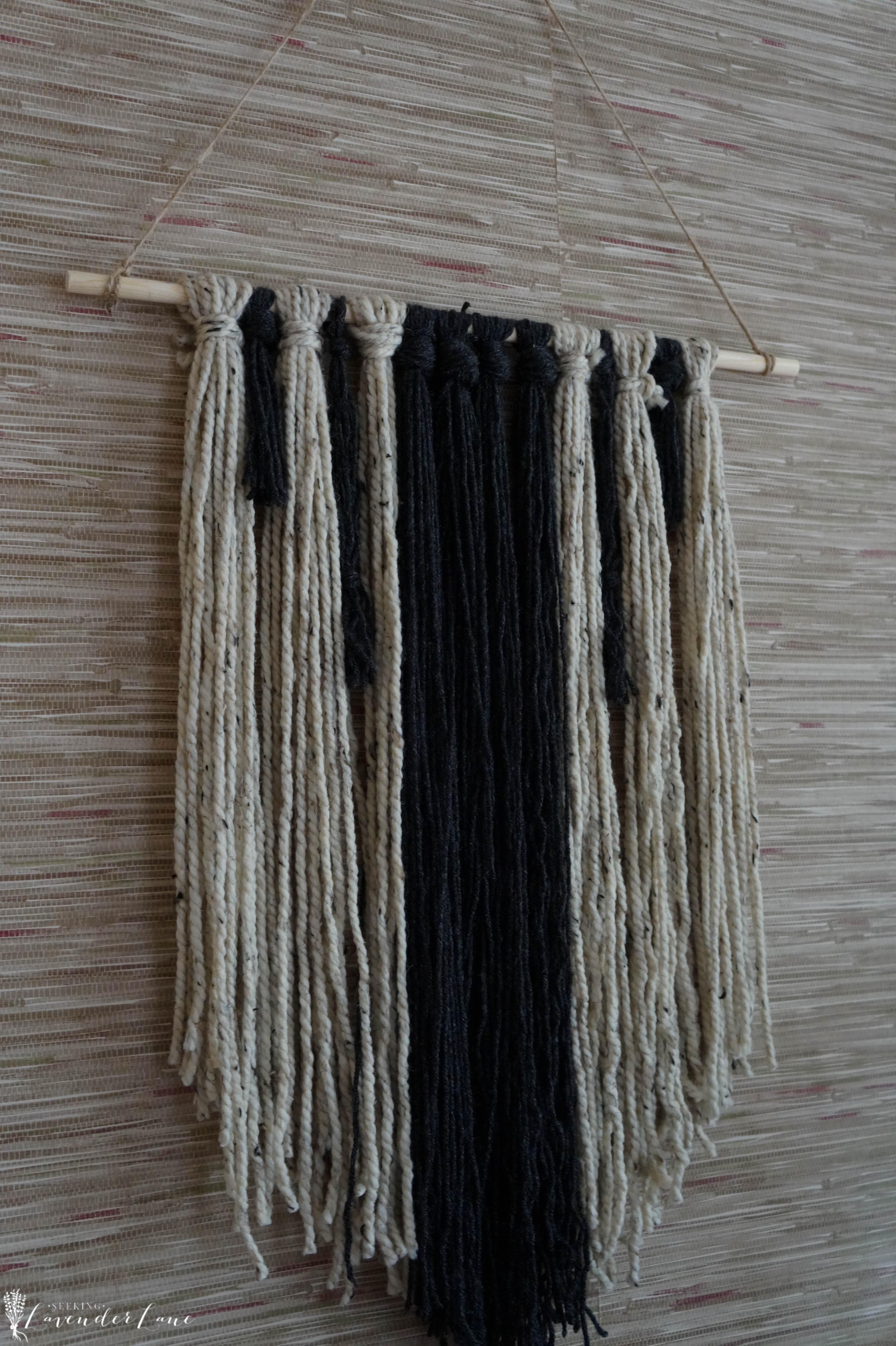 Easy DIY Yarn Hanging - Seeking Lavendar Lane