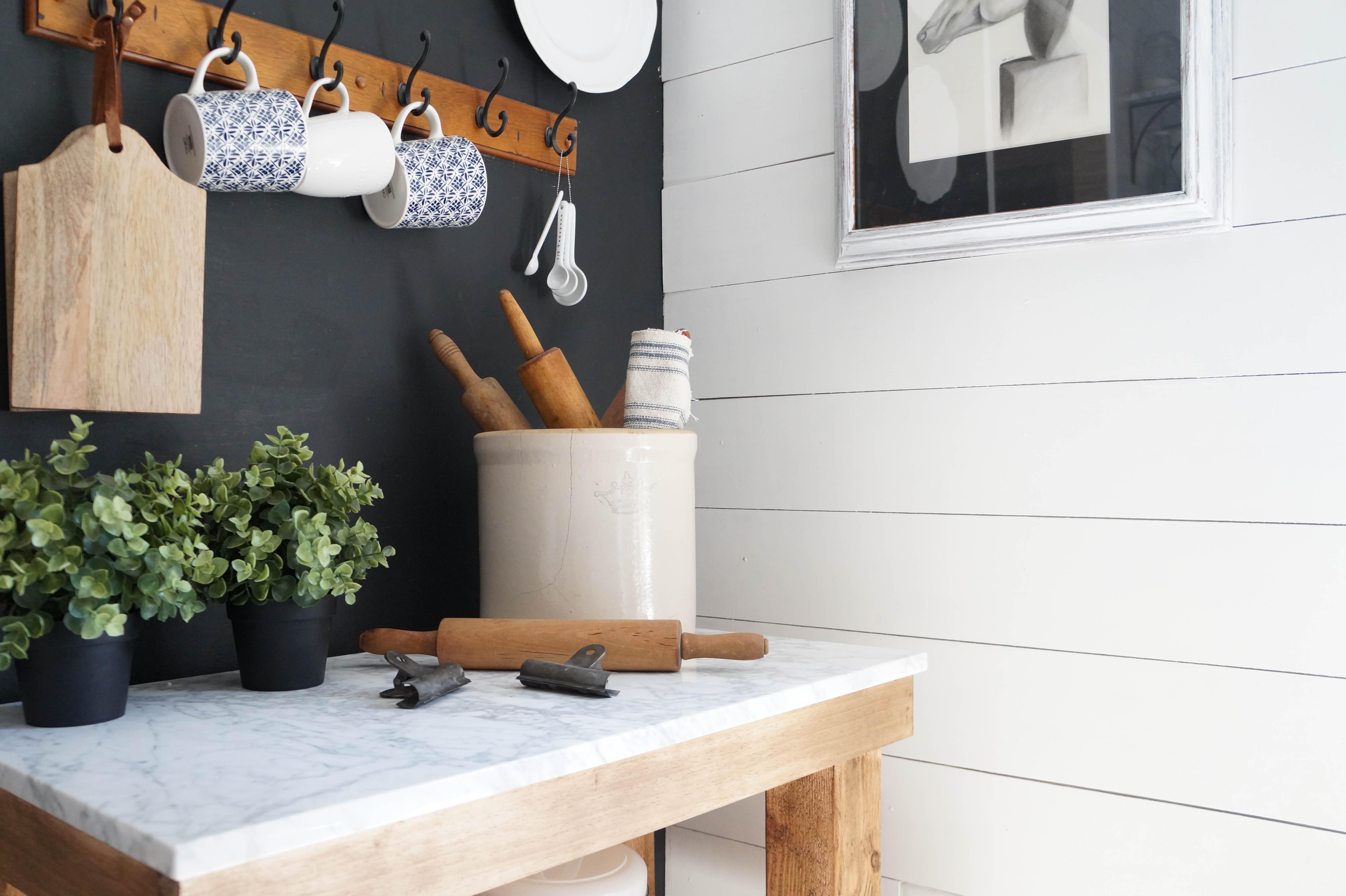 Kitchen Cart Diy Rustic Cart With Marble Top Seeking