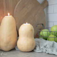 Fall Candles: DIY Squash Fall Candles