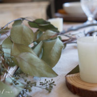 Neutral Thanksgiving Table with Seeded Eucalyptus