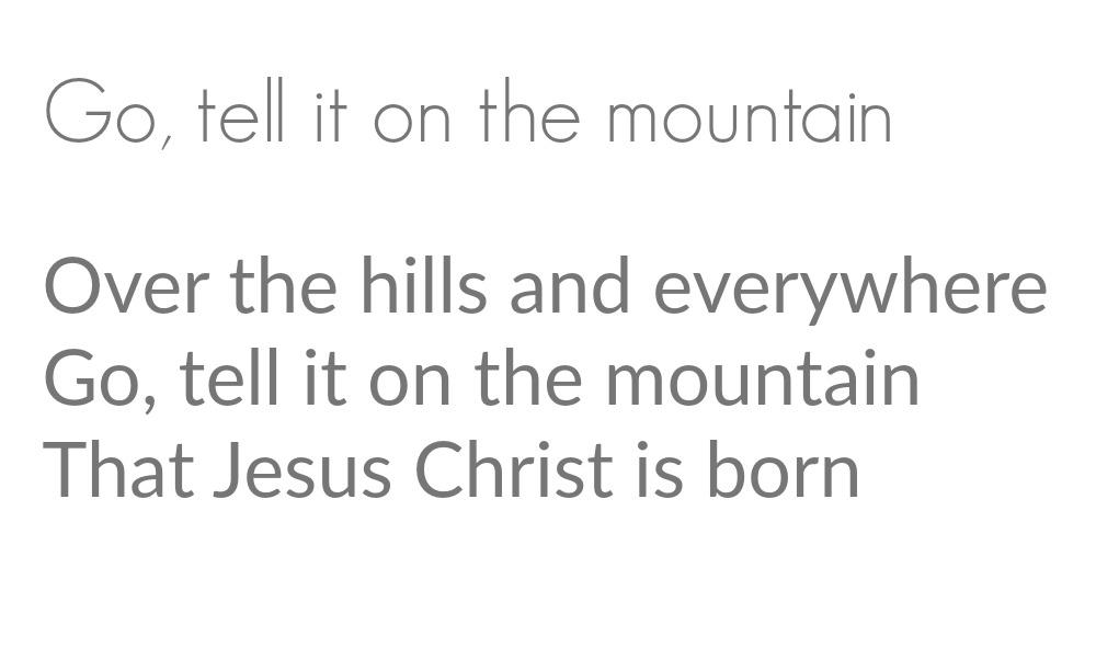 go-tell-it-on-the-mountain-lyrics