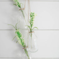 Easy Farmhouse Hanging Glass Bottles