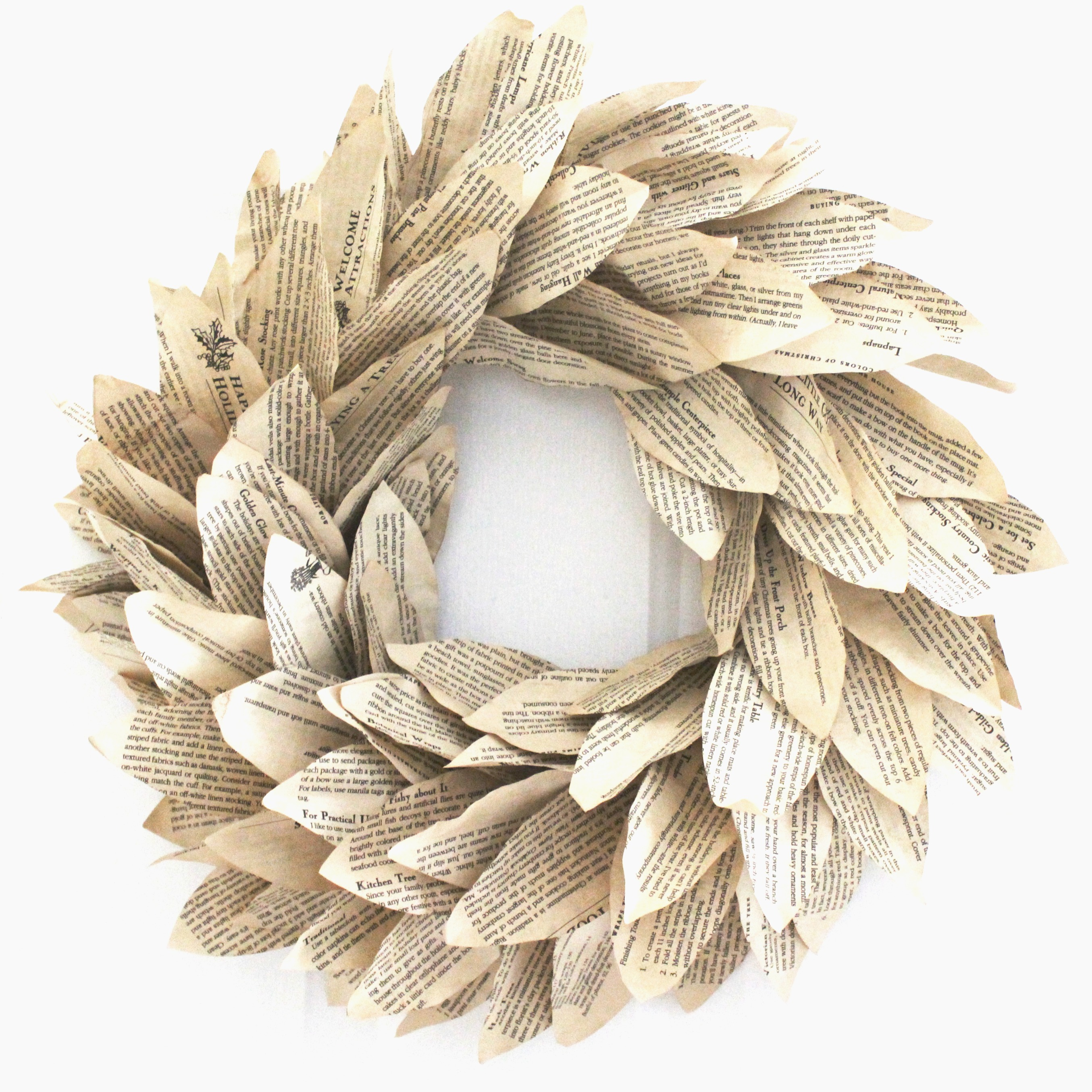 book-page-magnolia-wreath