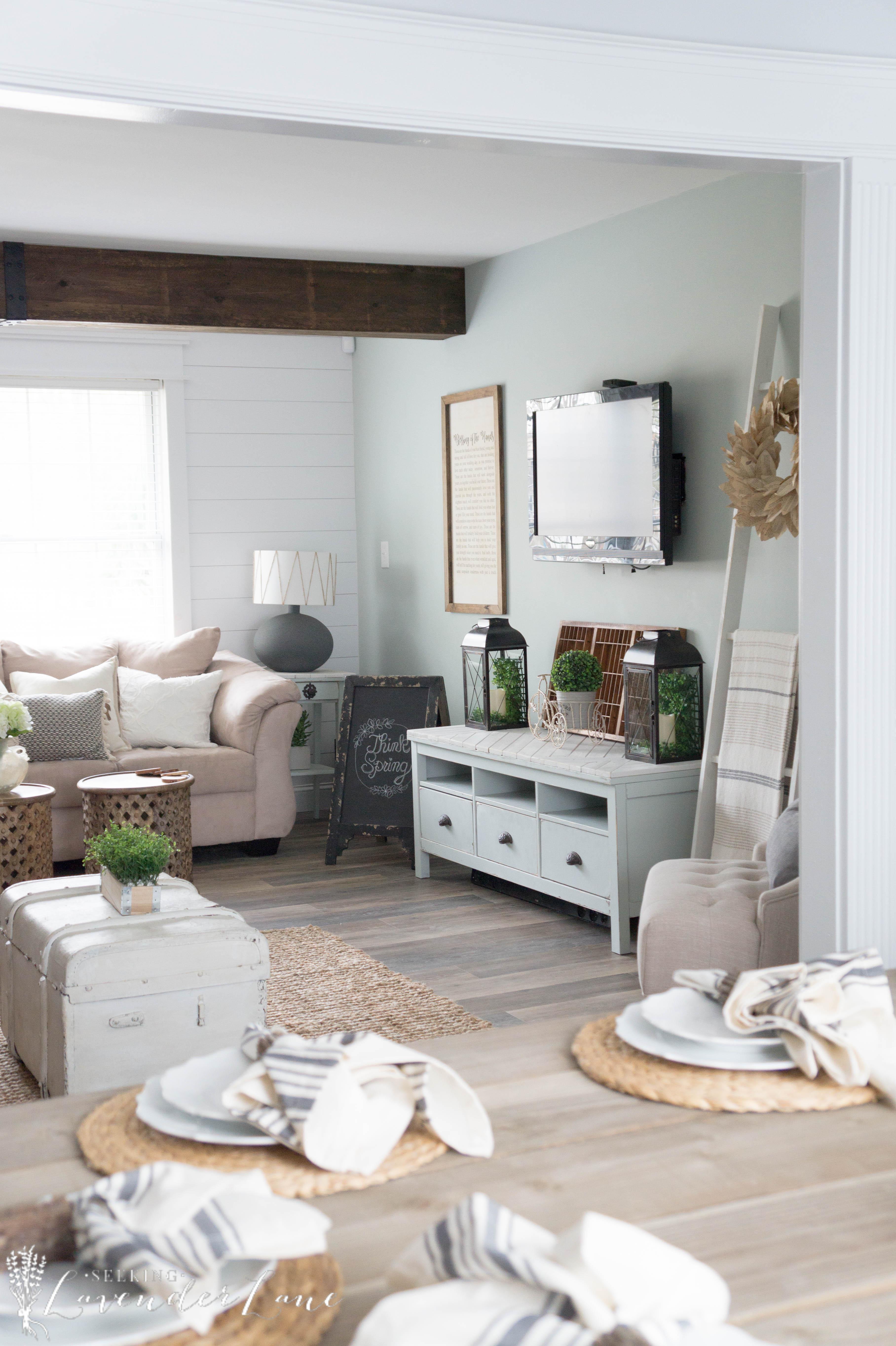 Farmhouse Family Room on a Budget - Seeking Lavendar Lane