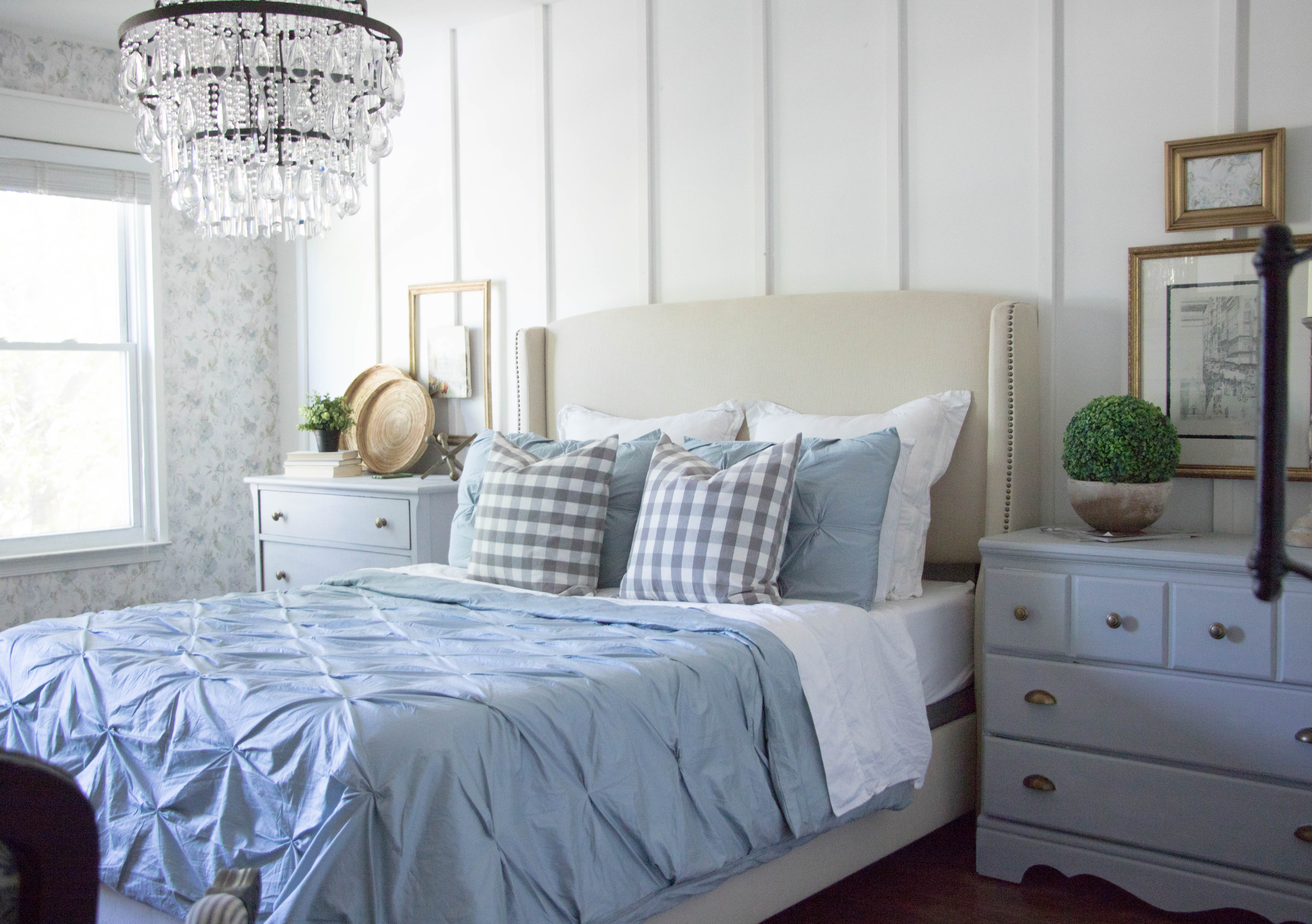 French Cottage Master Bedroom Reveal - Seeking Lavendar Lane on Master Bedroom Farmhouse Bedroom Images  id=27914