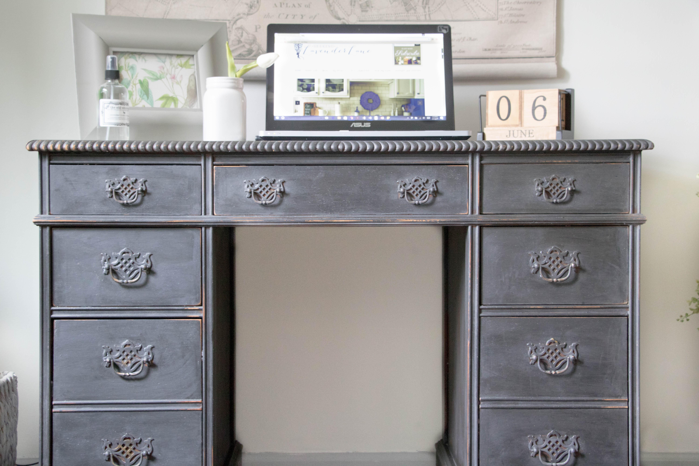 Perfect Vintage Painted Desk - Seeking Lavendar Lane DQ67