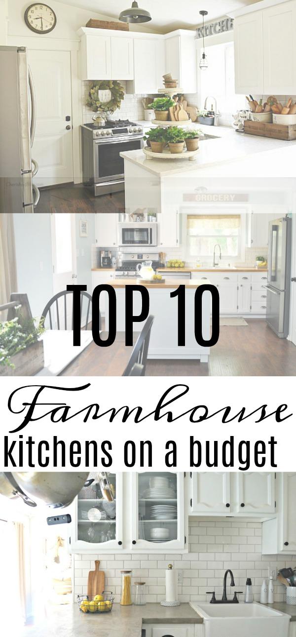 Top 10 Farmhouse Kitchens On A Budget Seeking Lavender Lane