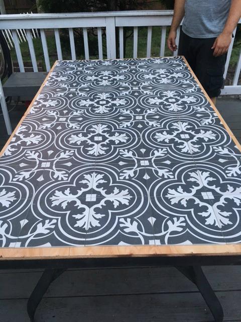 diy tile patio table tile placement seeking lavendar lane