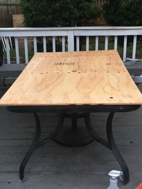 Too Thick Or Heavy Of A Piece Wood Since The Tile Will Make It And You Don T Want To Add Much Weight Raggedy Outdated Patio Table