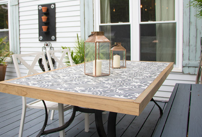 Diy Tile Tabletop Seeking Lavender Lane