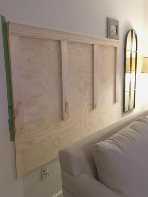 Diy Headboard For The Sofa Seeking Lavendar Lane