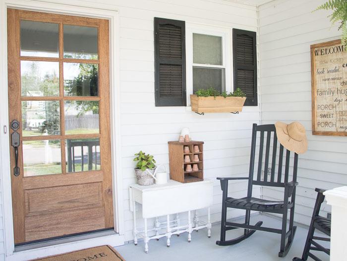 front porch ideas small front porch makeover seeking lavendar lane