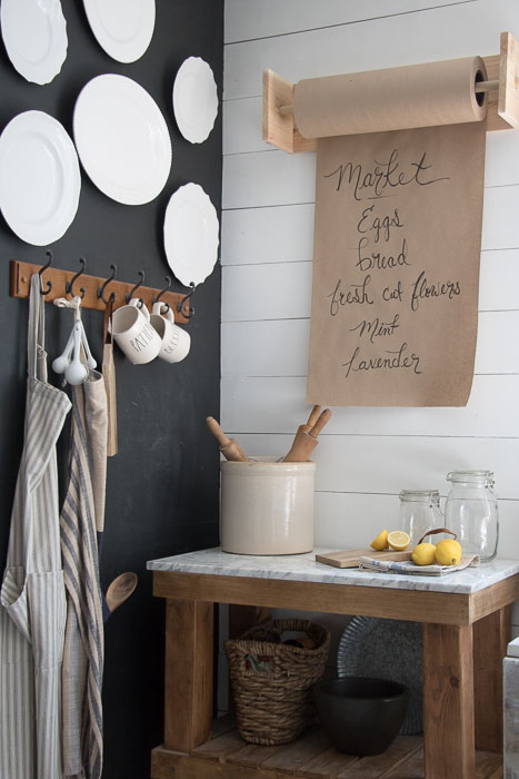 DIY Butcher Paper Holder for Kitchen