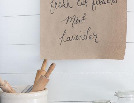 DIY Butcher Paper Holder