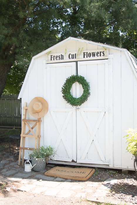 White Shed Makeover