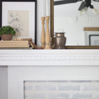 How to Get the Vintage Brick Fireplace Look