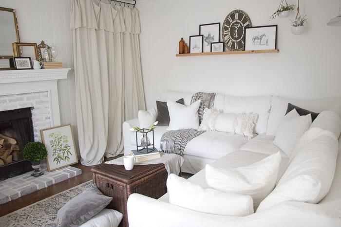 Vintage Cottage Living Room Makeover Seeking Lavendar Lane
