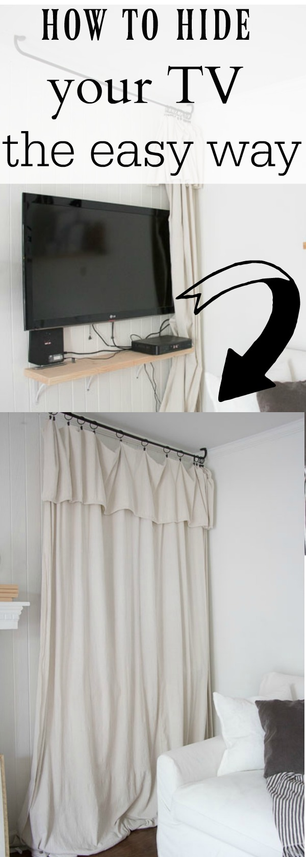 How to Hide your TV the easy way