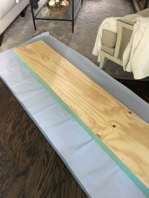 How To Make A Window Seat Cushion Part - 17: See Image Below (I Cut A Little More Off The One Below) The Fabric Does Not  Have To Be Perfect. If You Are Using A Print You May Need To Be More Exact  When ...