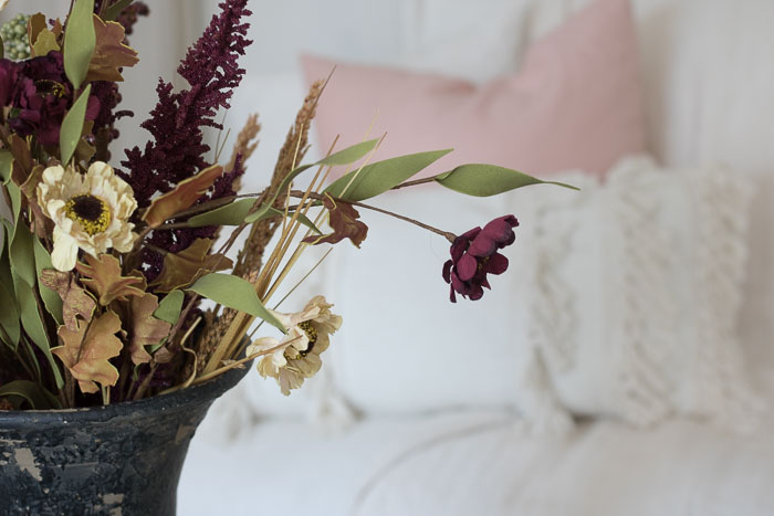 Blush and Cranberry Decor for Fall