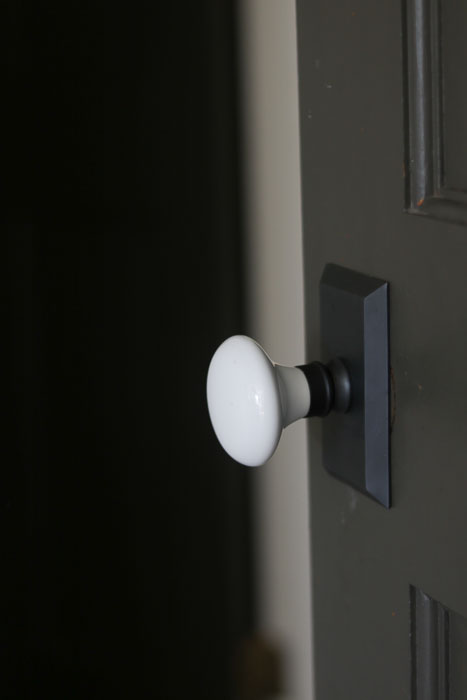 White Porcelain Door Knobs