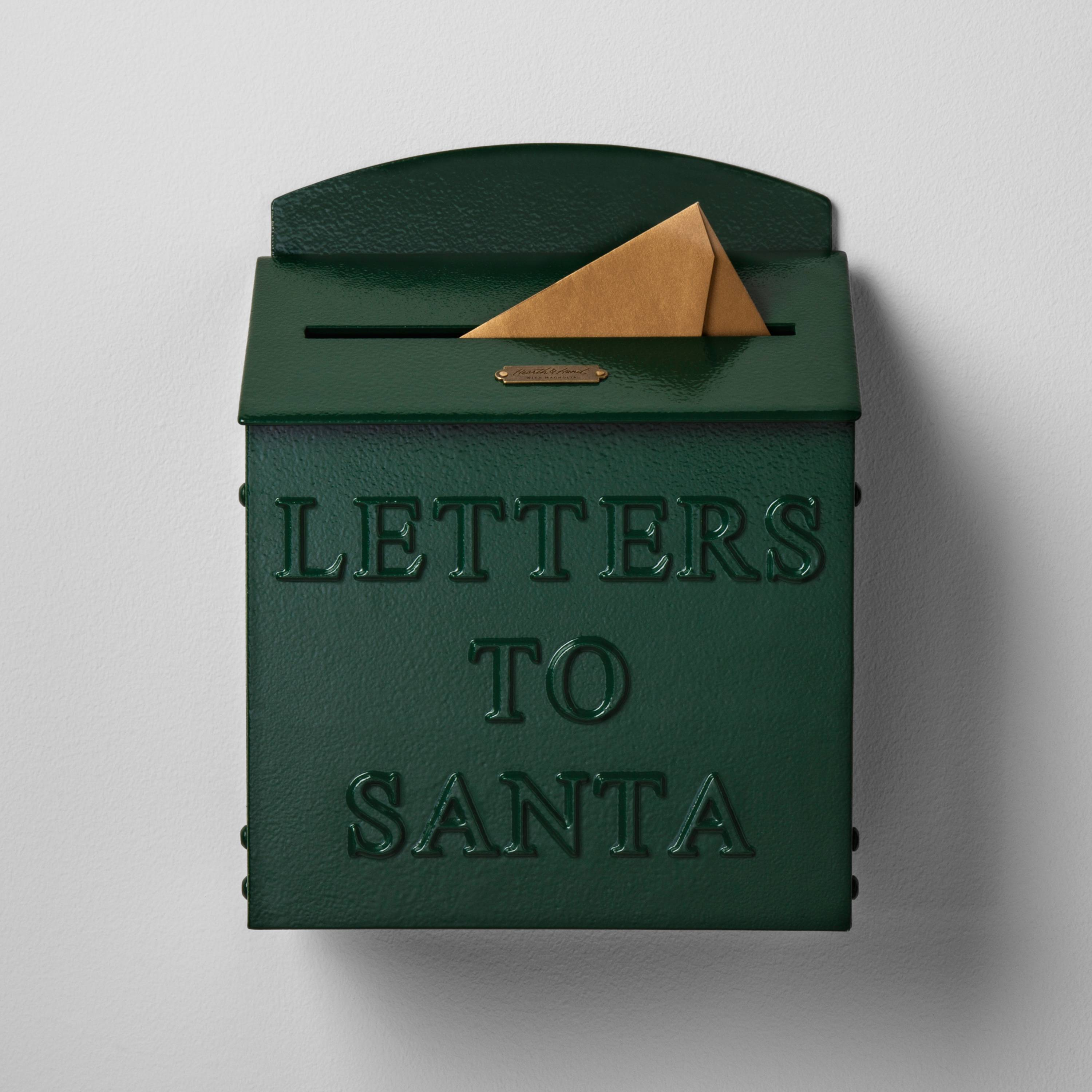 Hearth and Hand Line at target is on trend with it's green Letter's to Santa Mailbox
