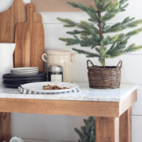 Chestnuts and Black Ribbon Christmas Kitchen Tour