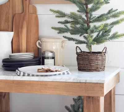 Chestnuts and Black Ribbon Christmas Kitchen Tour