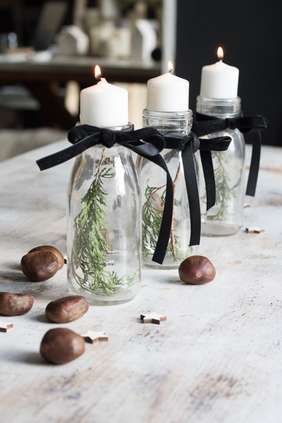 Chestnuts and black ribbon