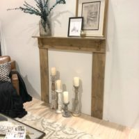 The Easiest DIY Mantel