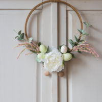 Easter Embroidery Hoop Wreath